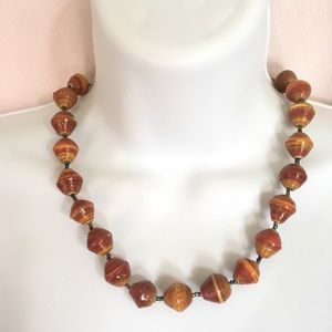 Handcrafted Paper Beads Necklace